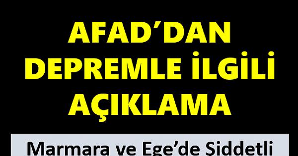 Son dakika: AFAD'dan depremle ilgili açıklama geldi