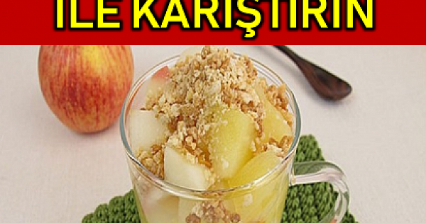 Kilo Verdiren Yöntem, Elmayı Yoğurt ile Karıştırın