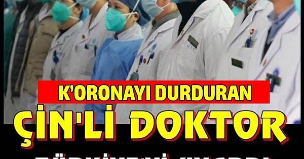 Çinli doktor Türkleri uyardı