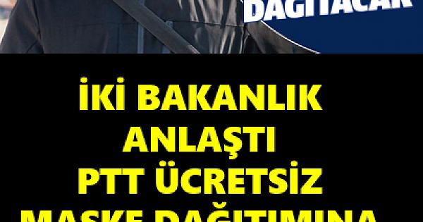 PTT ÜCRETSİZ MASKE DAĞITIMINA BAŞLADI
