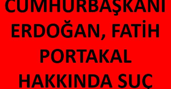 Son dakika haberi...Fatih Portakal hakkında suç duyurusunda bulundu