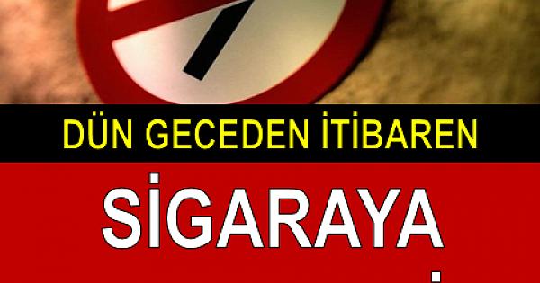 DÜN GECEDEN İTİBAREN SİGARAYA ZAM GELDİ!