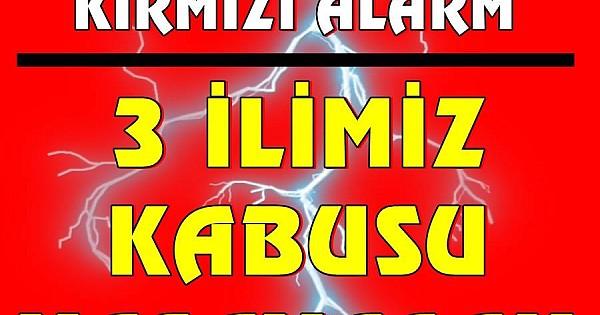 İstanbula kritik uyarı, Meteoroloji kırmızı kodla uyardı