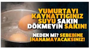 Yumurtayı Kaynattığınız Suyu Dökmeyin! Çünkü Öyle Bir faydası Var ki...