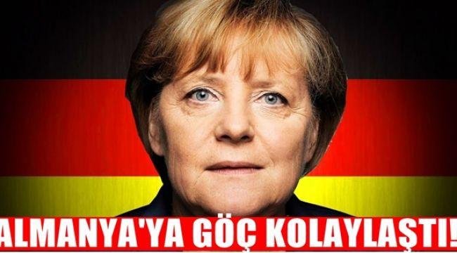 Almanya'ya göç kolaylaştı : Almanya'ya yerleşmek isteyenlere müjde