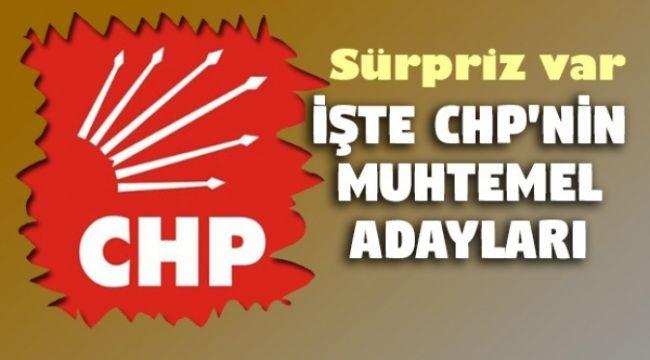 İşte CHP'nin muhtemel belediye başkan adayları