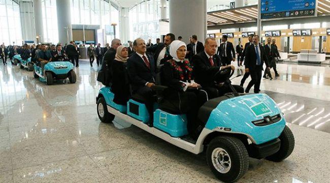 Yeni havalimanının açılış töreni başladı
