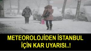 Kar Geliyor!Meteoroloji İstanbul için saat verip uyarı yaptı...