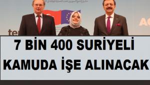 İŞKUR Açıkladı: 7 Bin 400 Suriyeli, 7 Bin 400 Türk İşe Alınacak