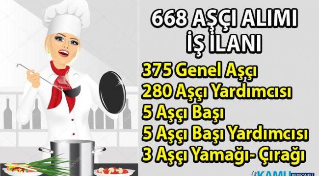 İŞKUR, 668 aşçı personel alımı ilanı yayınladı! Aşçı alımı iş başvuru şartları nelerdir?
