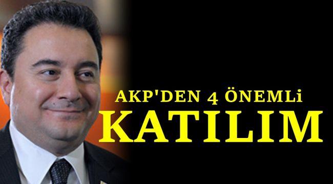 Ali Babacan'ın partisine AKP'den 4 önemli bakan