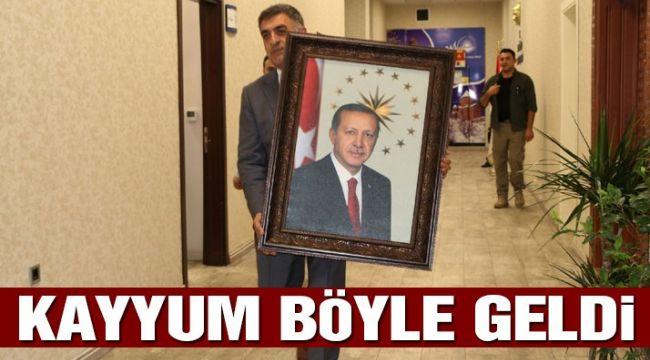 Son dakika: 'Kayyum Vali'nin ilk işi Erdoğan fotoğrafı oldu