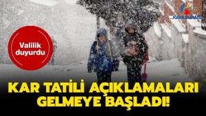 Kar Tatili Olan İller Hangileri? (13 Şubat 2020)