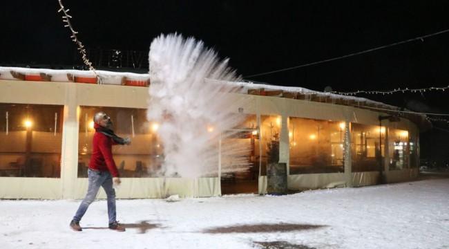 Sivas'ta gece saatlerinde termometreler eksi 21 dereceyi gösterdi