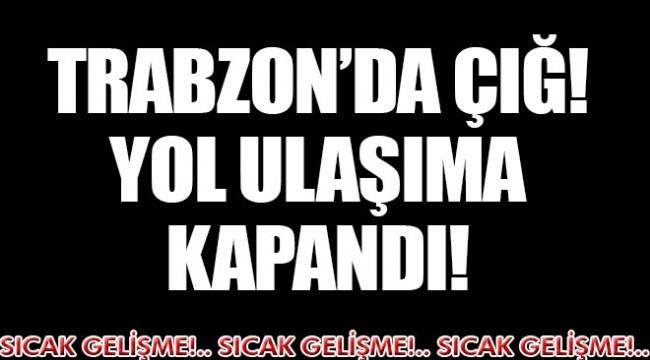 Trabzon-Gümüşhane karayolu Zigana Dağı mevkiinde çığ
