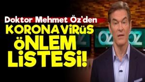 Mehmet Öz'den Korona Önlem Listesi!