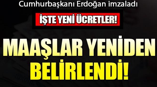Cumhurbaşkanı Erdoğan imzaladı! O ücretler yeniden belirlendi...