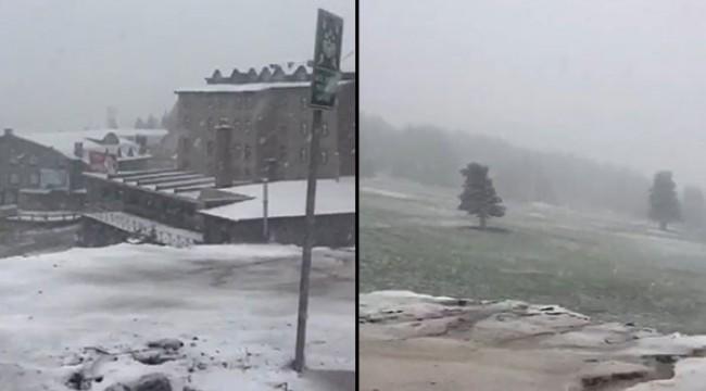 Bursa'da kar yağışı başladı!