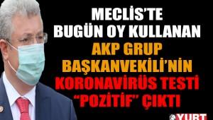 AKP Grup Başkanvekili'nin koronavirüs testi pozitif çıktı