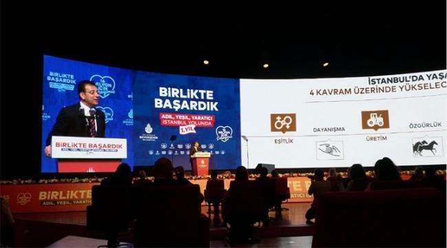 İmamoğlu, 16 milyon İstanbulluya 1 yılın hesabını verdi