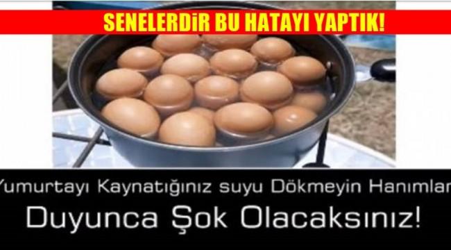 Yumurta Kaynatılan Suyu Dökmeyin Böyle Kullanın O sorun geçiyor