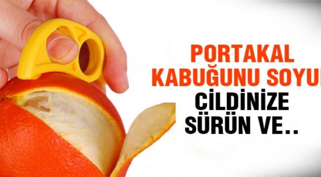 Portakal Kabuğunu Rendeleyip Sütle Karıştırıp Yüzünüze Sürün o sorun biter