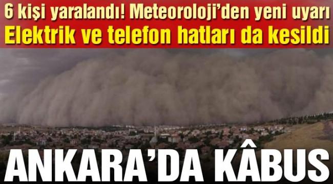 Ankara'da kum fırtınası! Polatlı ilçesi karanlığa büründü