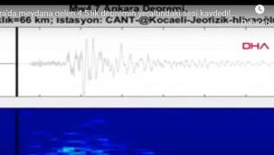 Ankara'daki 4.5'lik depremin yeraltındaki sesi kaydedildi
