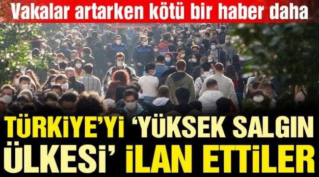 Almanya, Türkiye'yi 'yüksek salgın ülkesi' ilan etti