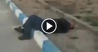 İran'da korkutan Corona virüsü videosu: Bir anda yere yığıldı
