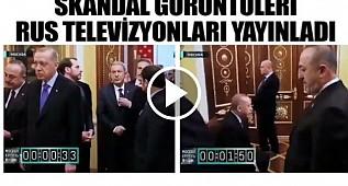 Rusların Erdoğan ve heyetini beklettiği görüntüler ortaya çıktı